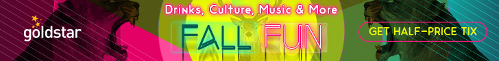 Picture: Goldstar: Drinks, Culture, Music and More. Fall fun. Get half-price tix