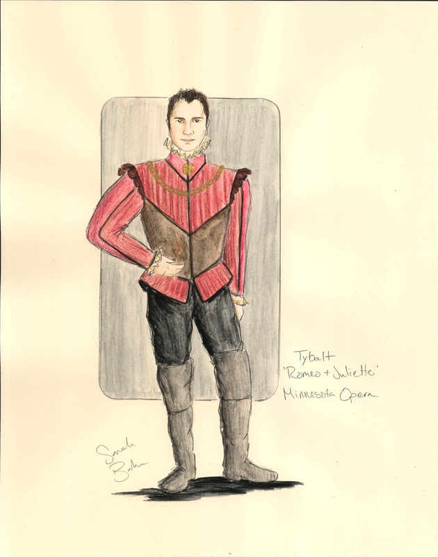 Picture: Costume rendering of Tybalt.